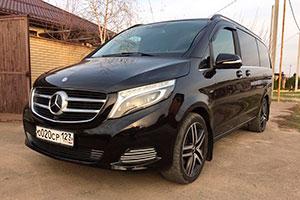 Аренда с водителем Mercedes-V-class-black